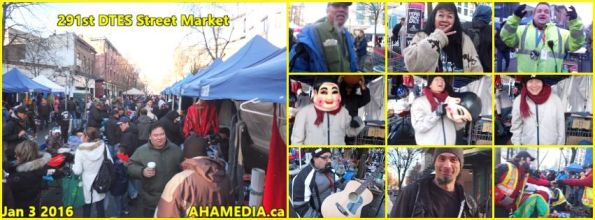 0 AHA MEDIA at 291st DTES Street Market in Vancouver on Jan 3 2016
