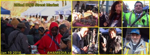 0 AHA MEDIA at 292nd DTES Street Market in Vancouver on Jan 10 2016