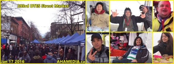 0 AHA MEDIA at 293rd DTES Street Market in Vancouver on Jan 17 2016