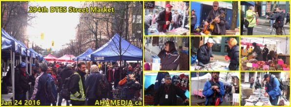 0 AHA MEDIA at 294th DTES Street Market in Vancouver on Jan 24 2016