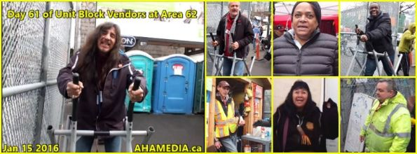 0 AHA MEDIA at 61st Day of Unit Block Vendors going to Area 62 DTES Street Market in Vancouver on Jan 15