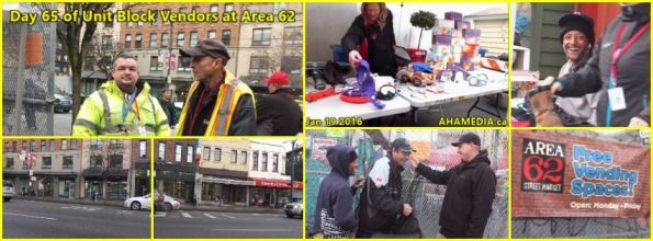 0  AHA MEDIA at 65th Day of Unit Block Vendors going to Area 62 DTES Street Market in Vancouver on Jan 19 2016