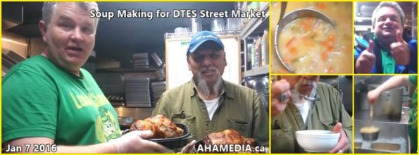 0 AHA MEDIA at Soup Making for DTES Street Market in Vancouver on Jan 7 2016