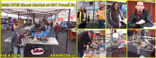 0 AHA MEDIA at 28th DTES Street Market at 501 Powell St in Vancouver on Feb 6 2016