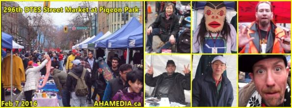 0 AHA MEDIA at 296th DTES Street Market at Pigeon Park in Vancouver on Feb 7 2016