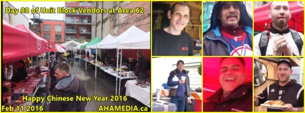 0 AHA MEDIA at 88th day of Unit Block Vendors at Area 62 on Feb 11 2016