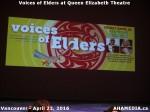 13 AHA MEDIA at Voices of Elders in Queen Elizabeth Theatre, Vancouver on April 22 2016