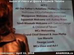 15 AHA MEDIA at Voices of Elders in Queen Elizabeth Theatre, Vancouver on April 22 2016