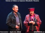 31 AHA MEDIA at Voices of Elders in Queen Elizabeth Theatre, Vancouver on April 22 2016