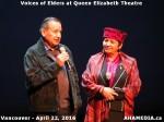 32 AHA MEDIA at Voices of Elders in Queen Elizabeth Theatre, Vancouver on April 22 2016