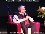 54 AHA MEDIA at Voices of Elders in Queen Elizabeth Theatre, Vancouver on April 22 2016