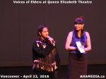 57 AHA MEDIA at Voices of Elders in Queen Elizabeth Theatre, Vancouver on April 22 2016
