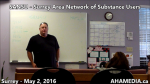 AHA MEDIA at SANSU Surrey Area Network of Substance Users meeting on May 2 2016 (1)