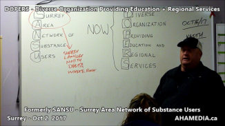 DOPERS formerly SANSU Surrey Area Network of Substance Users meeting on Oct 16 2017 (4)