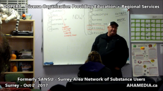 DOPERS formerly SANSU Surrey Area Network of Substance Users meeting on Oct 16 2017 (5)