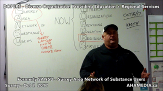 DOPERS formerly SANSU Surrey Area Network of Substance Users meeting on Oct 16 2017 (6)