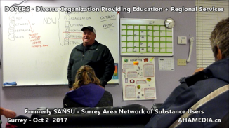 DOPERS formerly SANSU Surrey Area Network of Substance Users meeting on Oct 16 2017 (9)