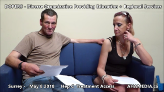 Danny and Cheri Hep C treatment access interview on May 8 2018 (1)
