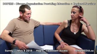 Danny and Cheri Hep C treatment access interview on May 8 2018 (10)