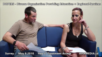 Danny and Cheri Hep C treatment access interview on May 8 2018 (2)