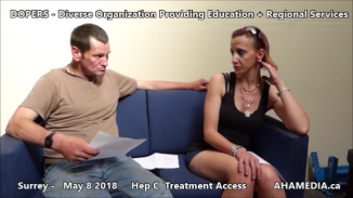 Danny and Cheri Hep C treatment access interview on May 8 2018 (8)