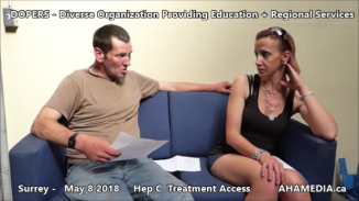 Danny and Cheri Hep C treatment access interview on May 8 2018 (9)