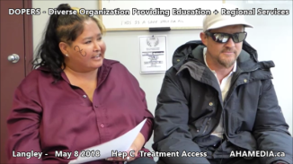 Lorretta and Doug Hep C treatment access interview on May 8 2018 (2)