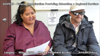 Lorretta and Doug Hep C treatment access interview on May 8 2018 (3)