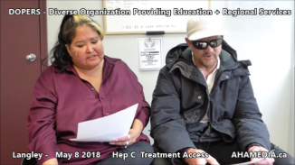 Lorretta and Doug Hep C treatment access interview on May 8 2018 (7)