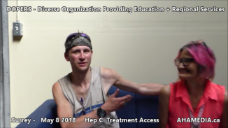 Stephen and Grace Hep C treatment access interview on May 8 2018 (2)