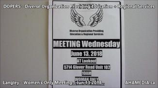 DOPERS WOMEN's Meeting in Langley on Jun 13 2018 (1)
