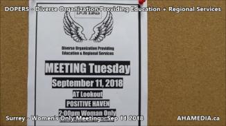 DOPERS WOMEN's Meeting in Surrey on Sep 11 2018 (1)