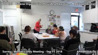 DOPERS WOMEN's Meeting in Surrey on Sep 11 2018 (5)