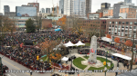 AHA MEDIA films at Remembrance Day 2019 in Victory Square, Vancouver(1)